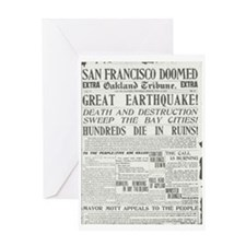 Oakland Tribune 1906 SF Earthquake Greeting Card