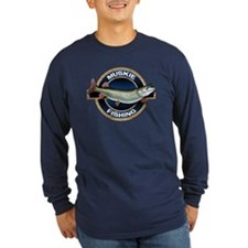 Long Sleeve Dark Muskie Fishing T-Shirt