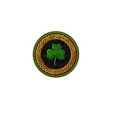 Celtic Shamrock Irish Mini Button