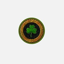 Celtic Shamrock Irish Mini Button