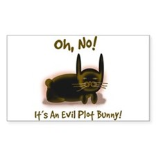 Evil Plot Bunny Rectangle Decal