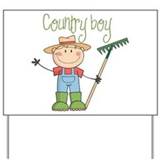 Country Boy Farmer Yard Sign