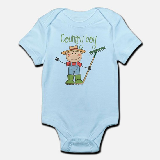Country Boy Farmer Infant Bodysuit