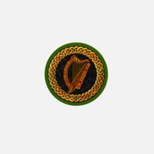 Celtic Harp Irish Mini Button