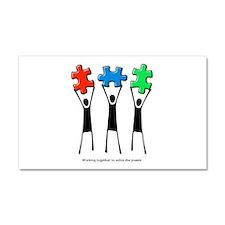 Cool Autistic spectrum disorder Car Magnet 20 x 12