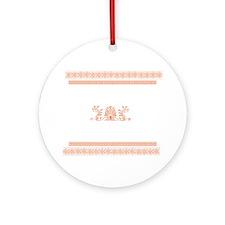 Ancient Greek Design - Orange Ornament (Round)