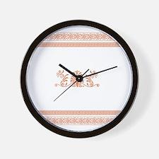 Ancient Greek Design - Orange Wall Clock
