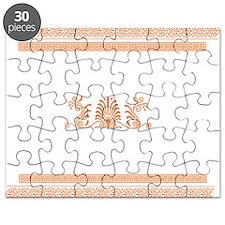 Ancient Greek Design - Orange Puzzle