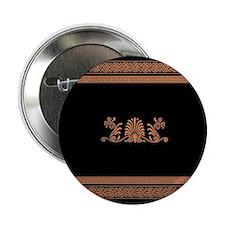 "Black and Orange Greek Design 2.25"" Button (10 pac"