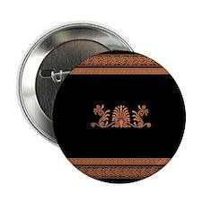 "Black and Orange Greek Design 2.25"" Button"