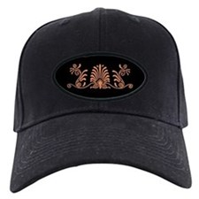 Black and Orange Greek Design Baseball Hat