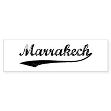 Vintage Marrakech Bumper Bumper Sticker