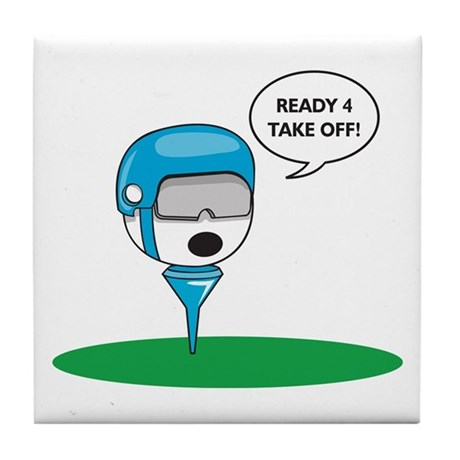 Funny Golf Tile Coaster