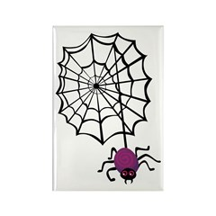 Spider And Web Rectangle Magnet (10 pack)