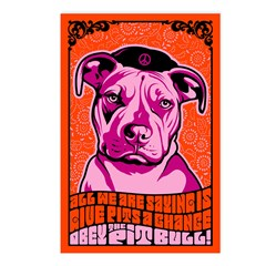 Give PITS a Chance! Postcards (Pack of 8)