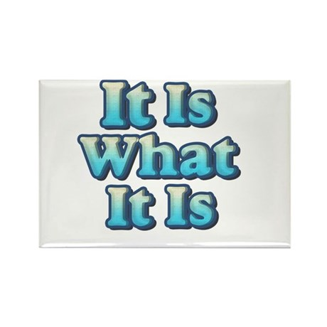 It is What It Is 2 Rectangle Magnet
