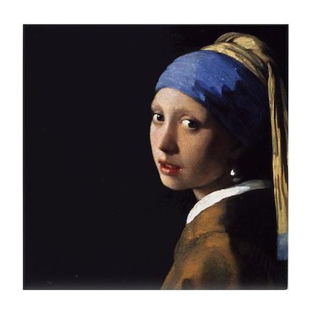 Johannes Vermeer Pearl Earring Tile Coaster