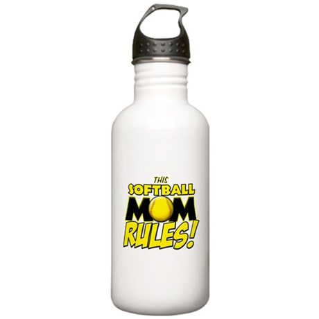 This Softball Mom Rules Stainless Water Bottle 1.0