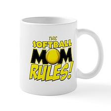 This Softball Mom Rules Mug