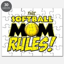 This Softball Mom Rules Puzzle