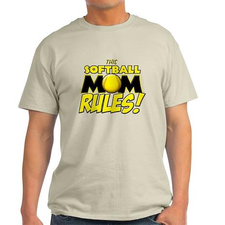 This Softball Mom Rules Light T-Shirt