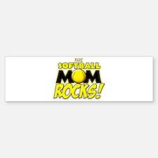 This Softball Mom Rocks Bumper Bumper Sticker