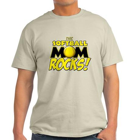 This Softball Mom Rocks Light T-Shirt