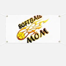 Softball Mom (flame) Banner