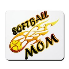 Softball Mom (flame) Mousepad