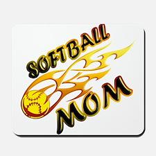 Softball Mom (flame) Mousepad