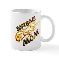 Softball Mom (flame) Mug