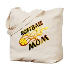 Softball Mom (flame) Tote Bag