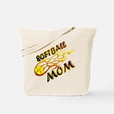 Softball Mom (flame) Tote Bag