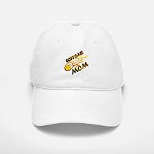 Softball Mom (flame) Baseball Baseball Cap