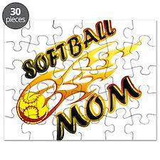 Softball Mom (flame) Puzzle