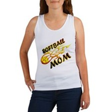 Softball Mom (flame) Women's Tank Top