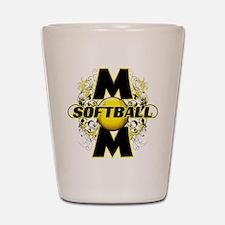 Softball Mom (cross) Shot Glass