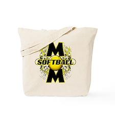 Softball Mom (cross) Tote Bag