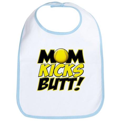 Mom Kicks Butt Bib