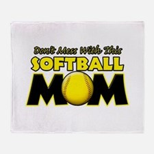 Don't Mess With This Softball Throw Blanket