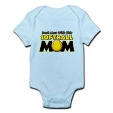 Don't Mess With This Softball Infant Bodysuit