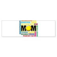 A Softball Mom Car Sticker
