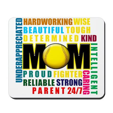 A Softball Mom Mousepad