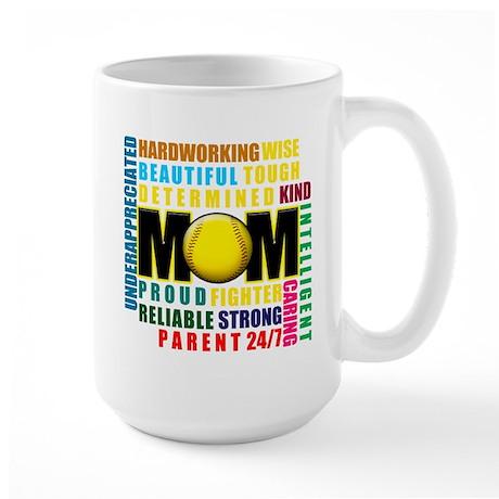 A Softball Mom Large Mug
