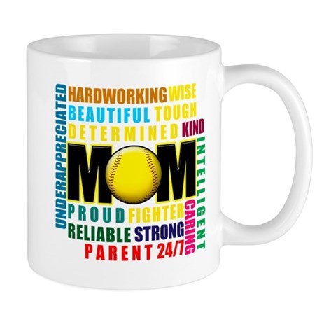 A Softball Mom Mug