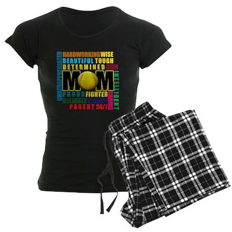 A Softball Mom Women's Dark Pajamas