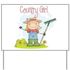 Country Girl Yard Sign