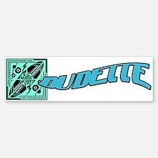 Dudette Surfer Girl Bumper Bumper Sticker