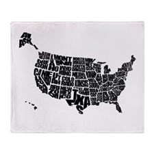 Word Maps Throw Blanket