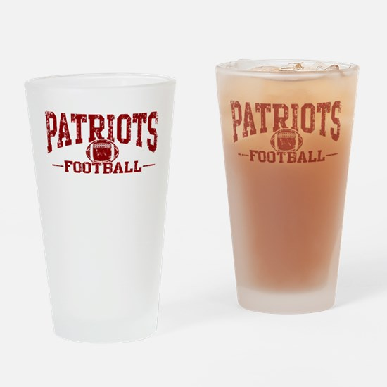 Patriots Football Drinking Glass